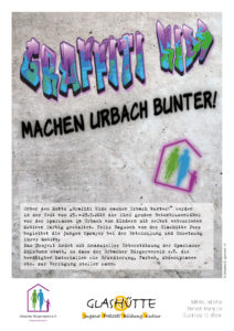 Poster zur Graffiti-Aktion in Urbach